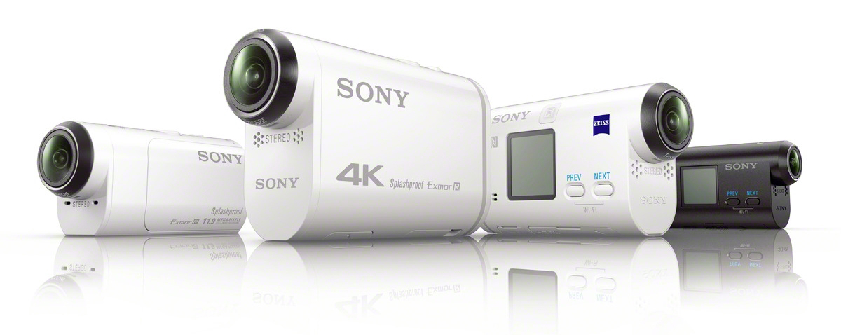 Sony Action Cam FDR-X1000V и HDR-AS200V