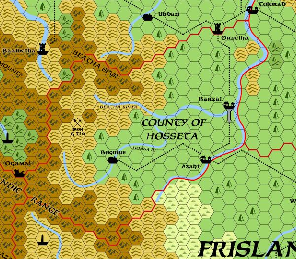 Mystara Alphatian Frisland Hex Map