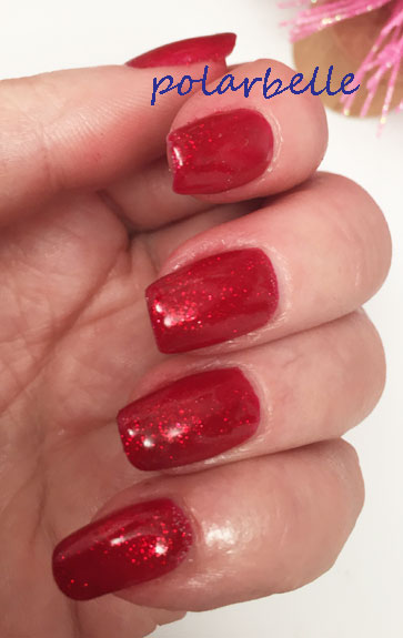 polarbelle the perfect holiday red gel polish gelish good gossip