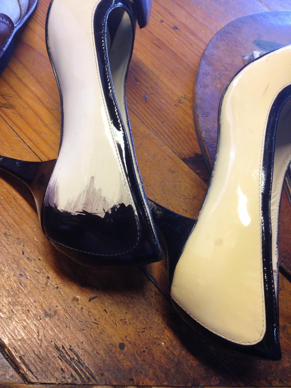 Teindre chaussure daim en noir - Teinture pour cuir ...