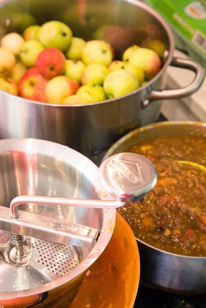 Omenasosetta vaniljalla ja balsamicolla