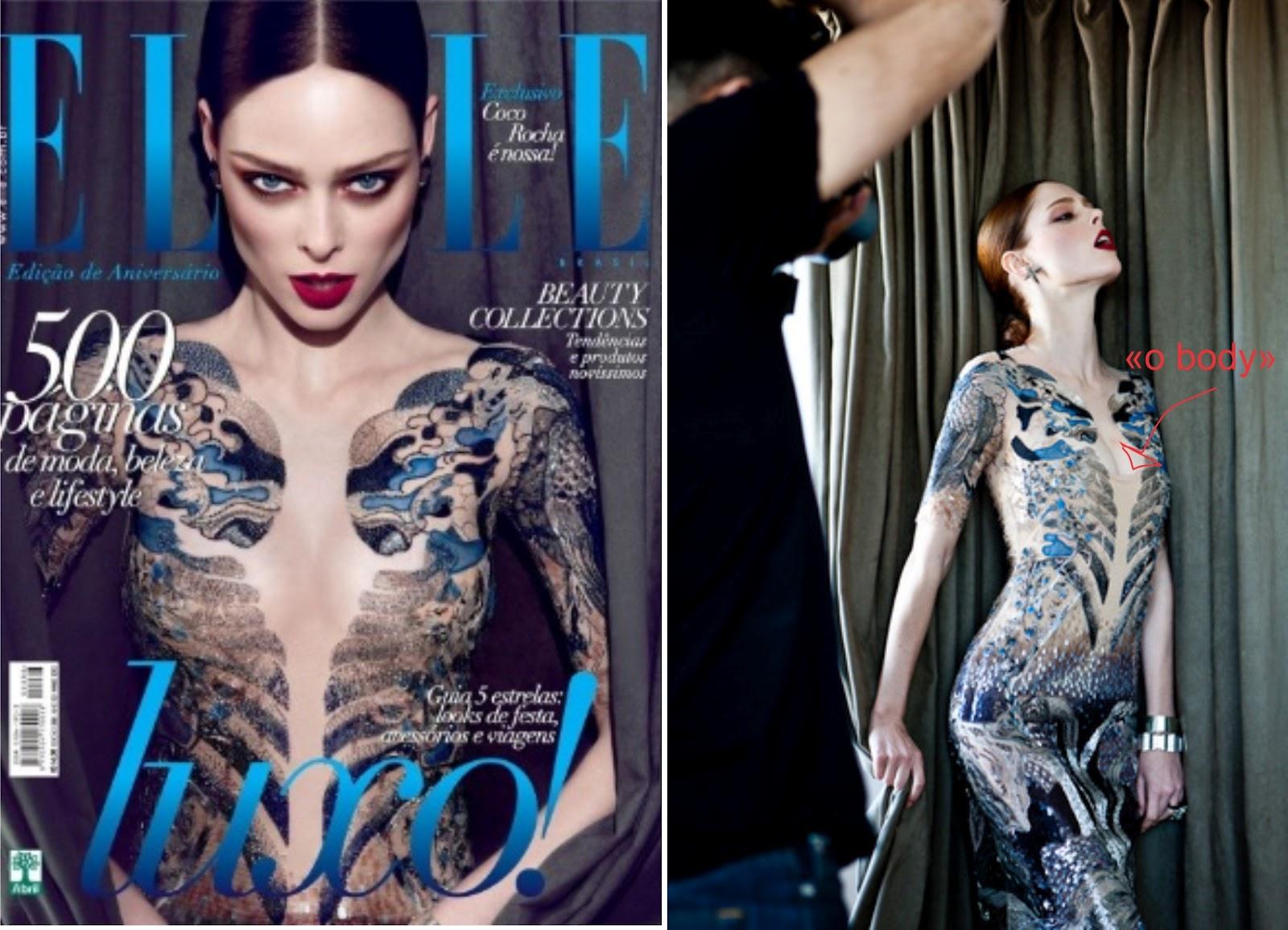 Coco Rocha reclama de Photoshop em capa da revista Elle ...