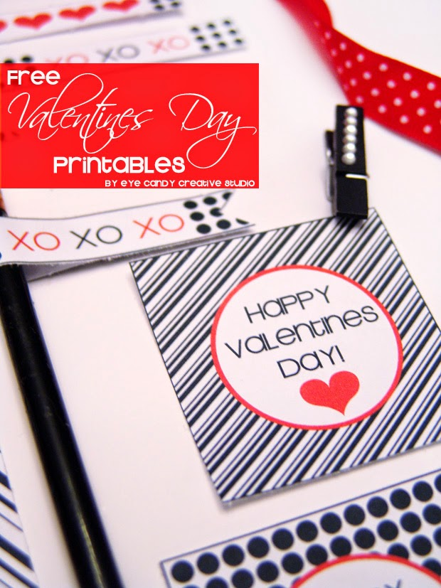 black and white stripe toppers, happy valentines day, free valentines printables