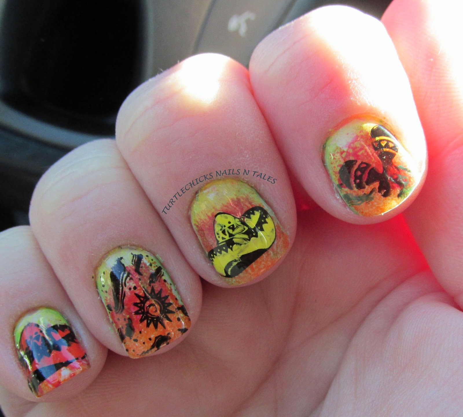Mexican style nail art best ideas about mexican nails on red nail view images turtlechick s nails n tales mexican prinsesfo Gallery