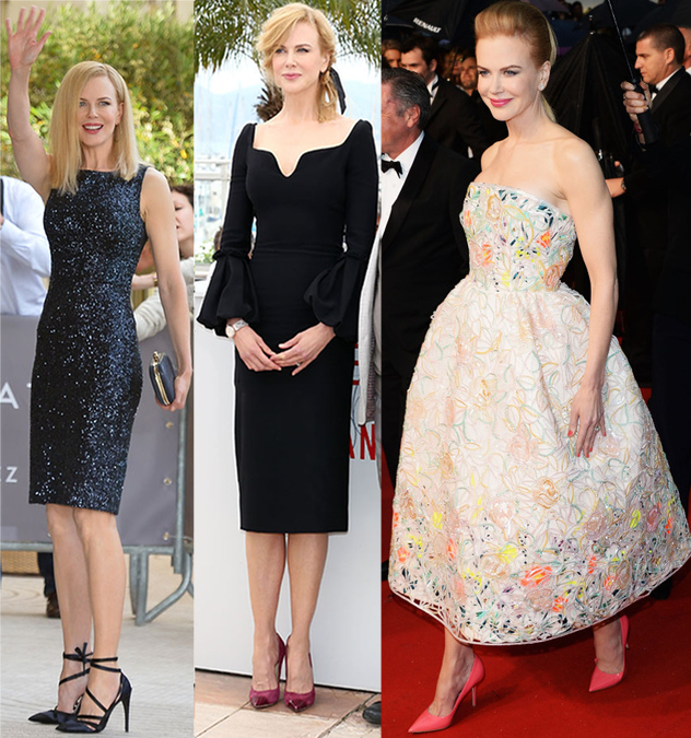Nicole Kidman at the Cannes 2013 Festival event in Dior, Alexander McQueen, and Dior Couture.