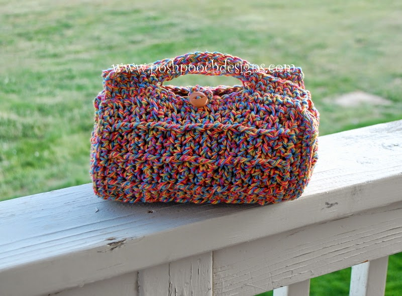 Crochet Cosmetic Bag Pattern : Posh Pooch Designs Dog Clothes: Cylinder Cosmetic Bag Crochet Pattern