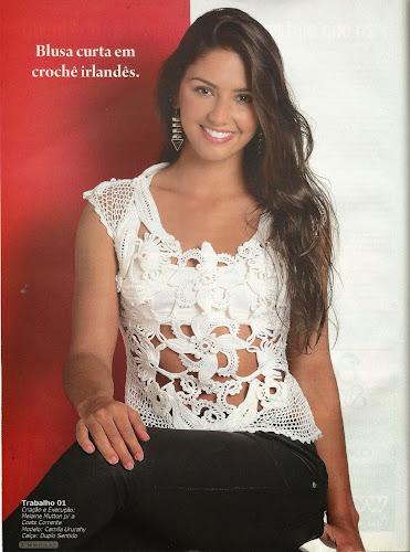 Belíssima!!! blusa verão de crochê.