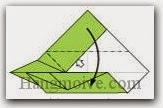Bước 14: Làm tương tự với cạnh trên giống bước 9 đến bước 13.