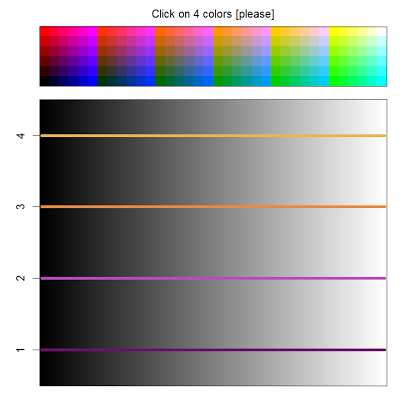 Choosing colors visually with 'getcolors'