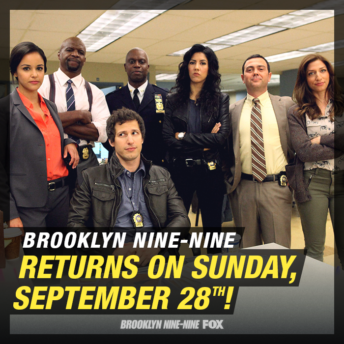 Brooklyn Nine-Nine was one of Rabbit Ear Reviews' summer faves! It returns to Fox Sundays this fall.