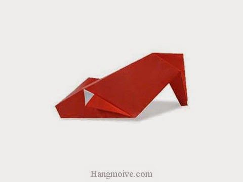 Cách gấp, xếp giày dép cao gót bằng giấy origami - Video hướng dẫn xếp hình đồ thời trang - How to fold a Heel