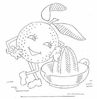 riscos para pintar panos de prato