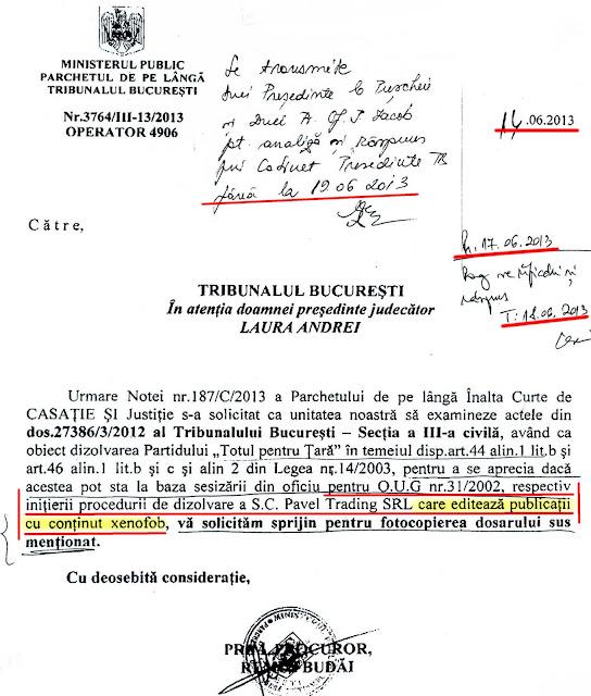 Garda De Fier, Serban Suru: sesizare de la Parchet