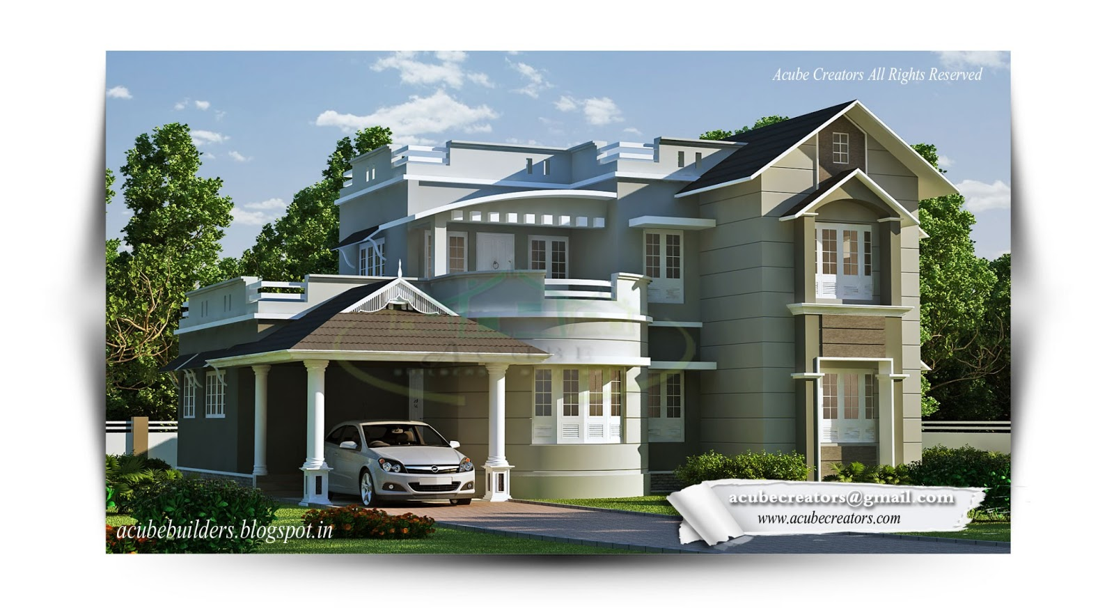 new style villa  1832 sq ft plan 160 acube builders amp developers