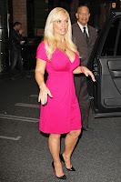 Coco Austin pink dress