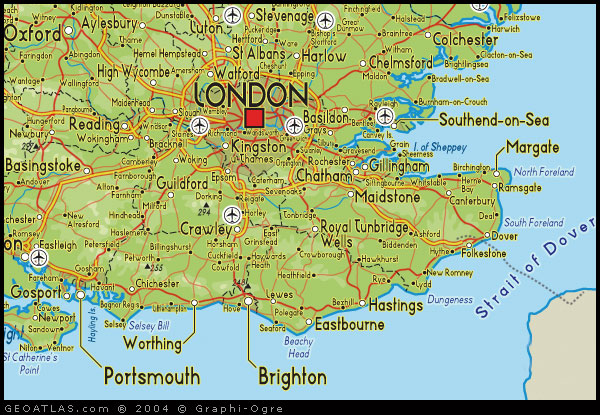 South East England Regions Map United Kingdom Map Regional City Province