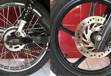 Perbedaan Velg Motor - Velg Jari-jari atau Velg Racing  www.motroad.com