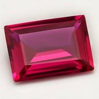 lab ruby emerald step cut
