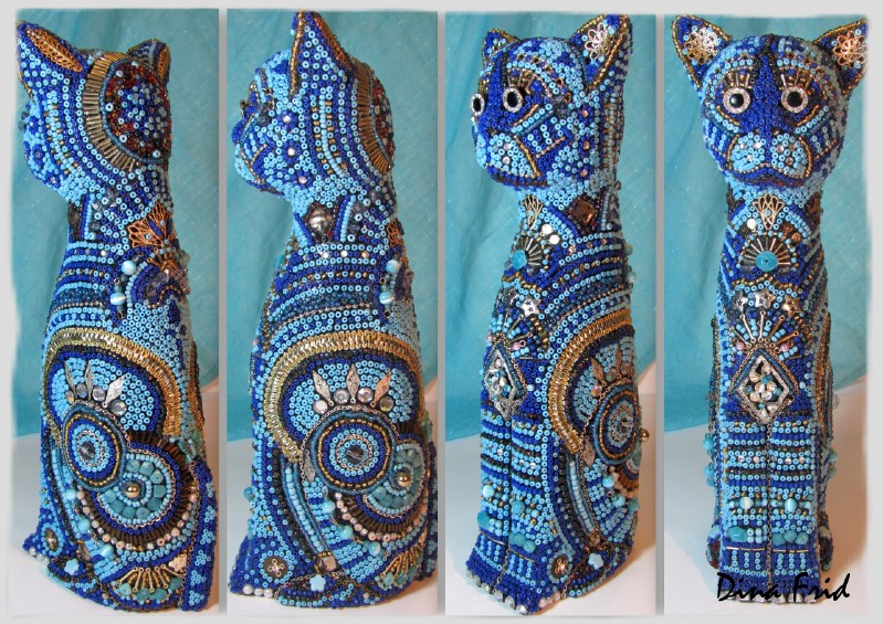 beads mosaic.  Height 25 cm. мозаика из бисера.