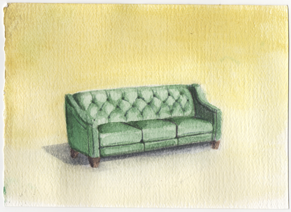Couch Watercolor