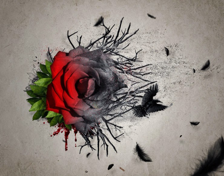 Create an Emotional Abstract Photo Manipulation of a Rose in Photoshop Tutorial