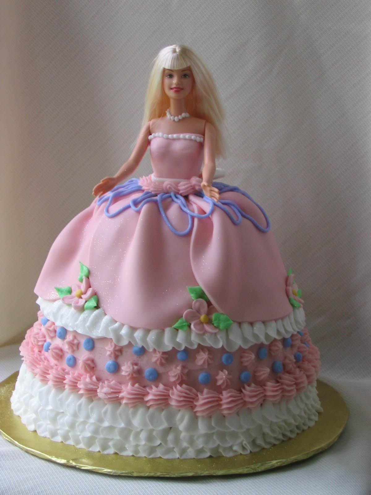 Birthday Cake: Pink Barbie Birthday Cakes