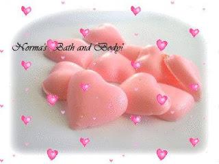 valentine soaps  by normasbathandbody