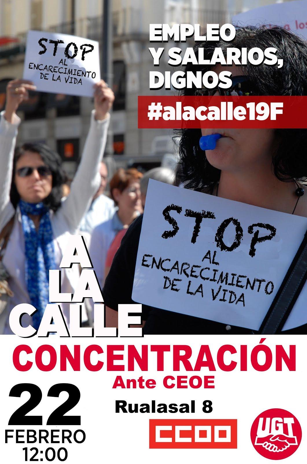 CONCENTRACION ANTE LA CEOE A LAS 12H