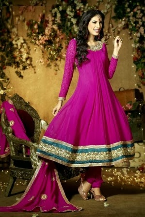 Pink frock designs