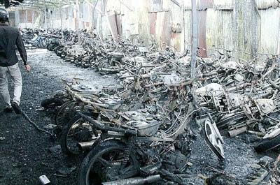 Các nguyên nhân dẫn đến việc xe máy bị cháy
