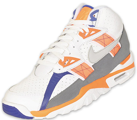 check out 2f3a2 70b12 Last seen in 2009, this original colorway one the Nike Air Trainer SC High  comes in the classic white, light zen grey, total orange and stealth.