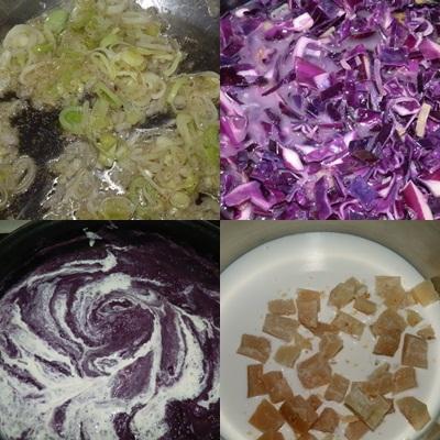 Aprendiendo a cocinar cosillas de guancheloco crema de for Cocinar col lombarda