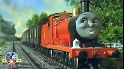The best fireworks Thomas and his friends James the red engine happily steamed along the branch line