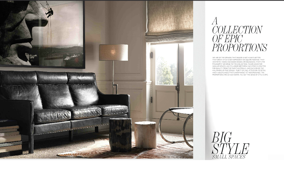 Restoration hardware goes small - Small spaces restoration hardware set ...