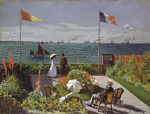 "Picture of ""Garden at Sainte-Adresse"" by Claude Monet, 1867"