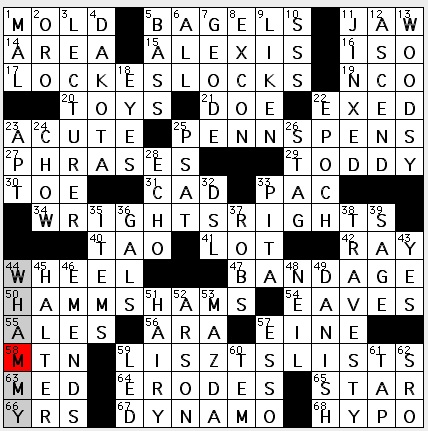 Rex Parker Does The Nyt Crossword Puzzle Rock With Glittery Inside Mon 1 21 13 Territory That Became Two States Roulette Centerpiece Soccer Star Mia S Meats Potato Protuberances