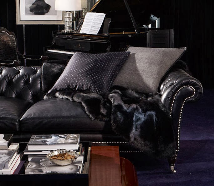 Focal point styling in celebration of an american icon for Ralph lauren living room designs