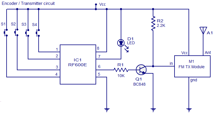 FM remote EncoderDecoder  The Circuit