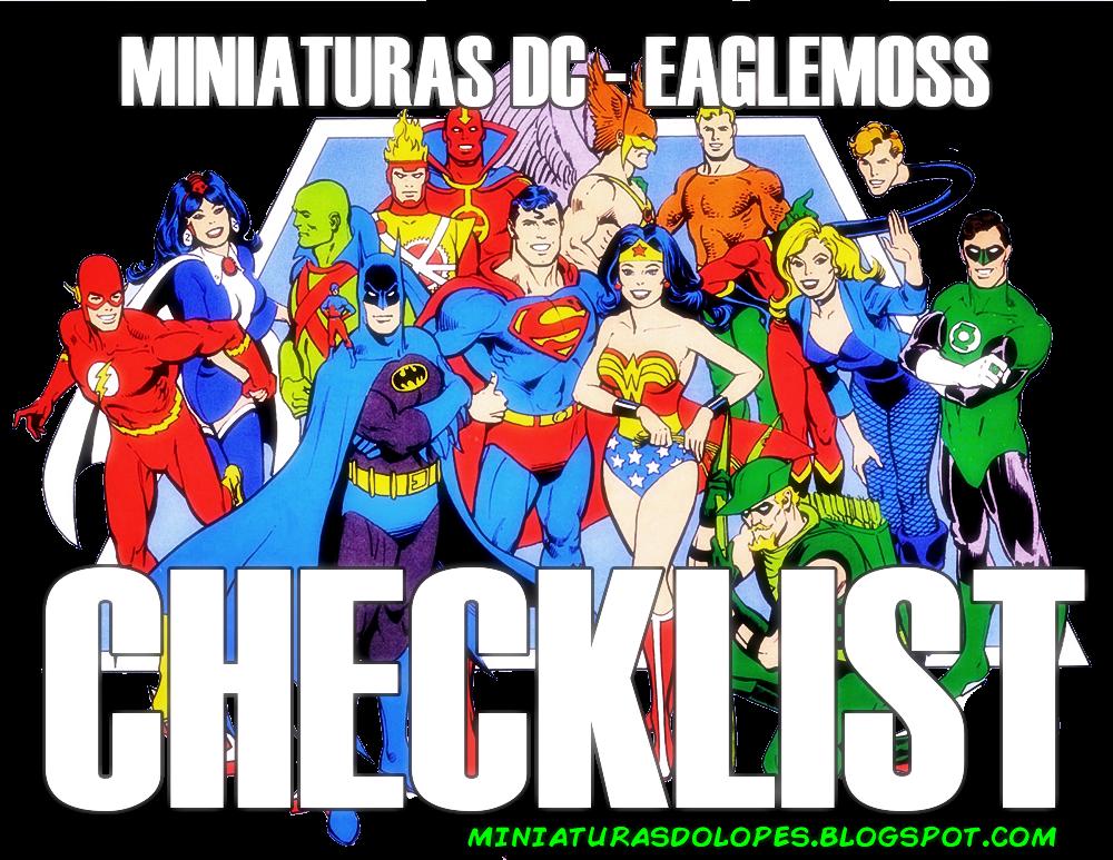 Miniaturas do Lopes!: Checklist - Miniaturas DC - Eaglemoss