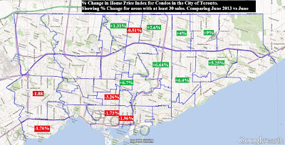 toronto condo heat map price