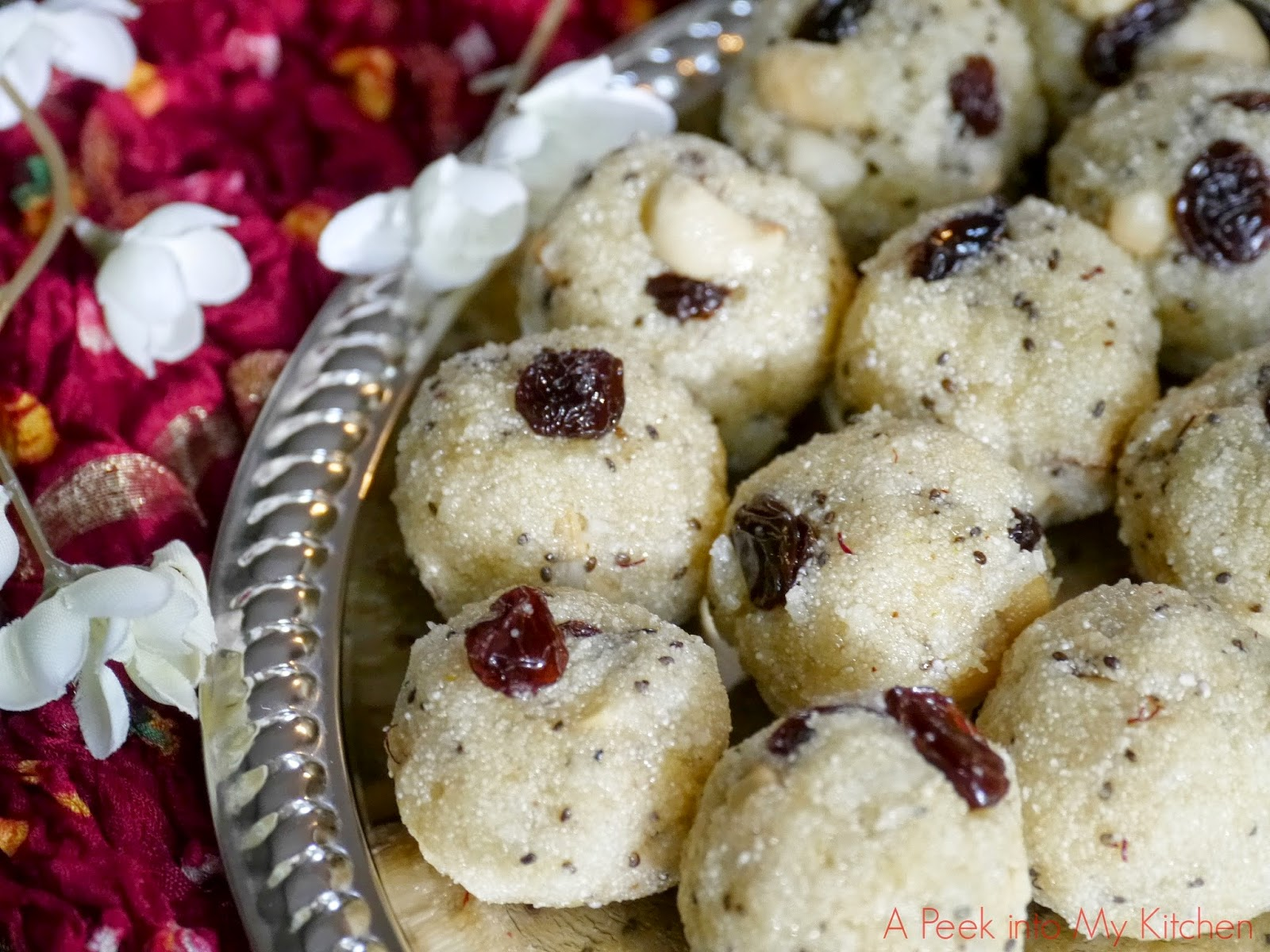Coconut Rava Ladoo with Chia Seeds – Navarathri Recipe