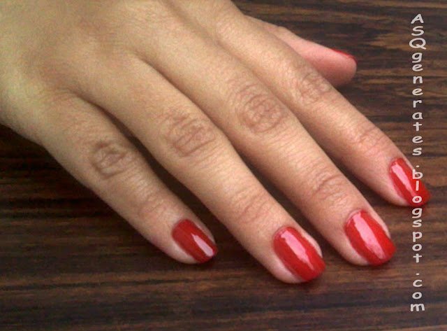 Paint the nail red color