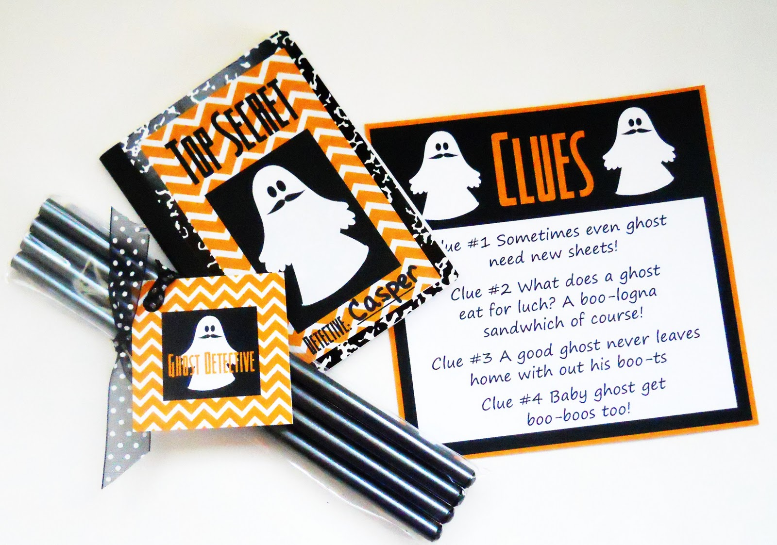 picture regarding Printable Detective Games named No cost Printable: Children Ghost Detective Halloween Match