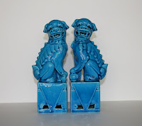 My Turquoise Blue Chinese Foo Dogs