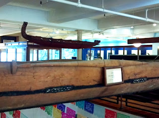 Solomon Island canoe paddle at Peabody Museum