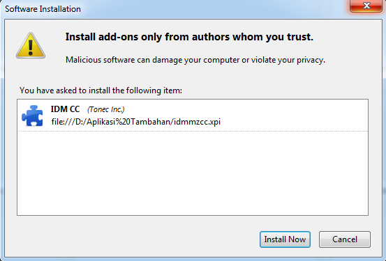 Cara Integrasi Internet Download Manager (IDM) Dengan Browser Mozilla Firefox