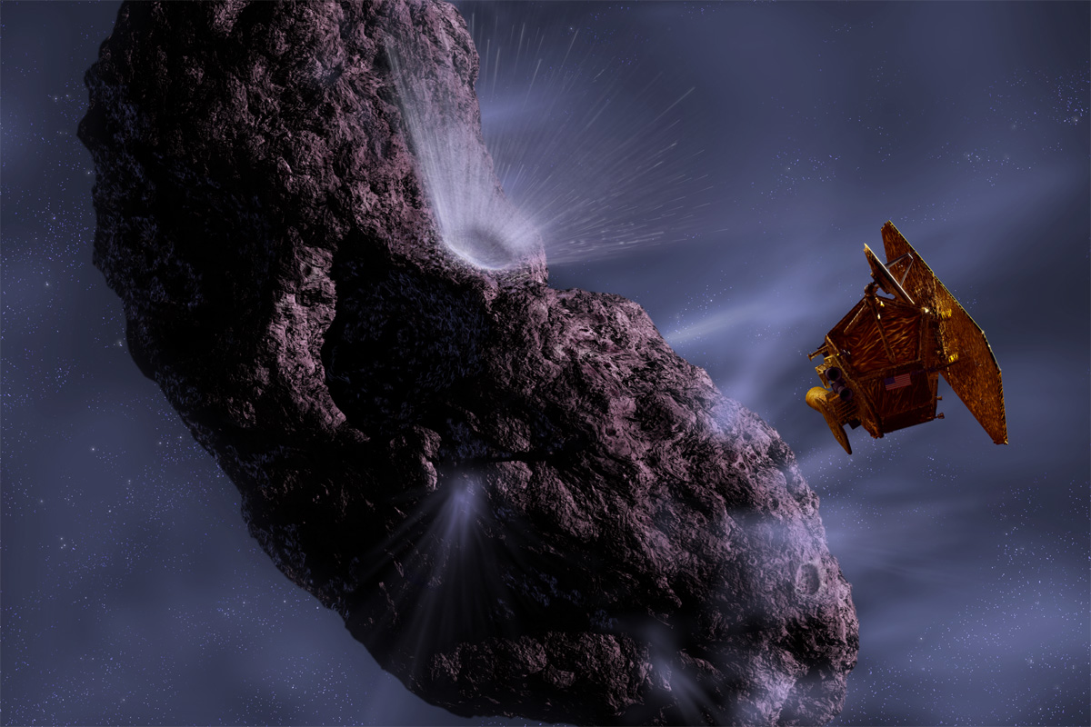 Current theories on the behaviour of comets has been shattered after