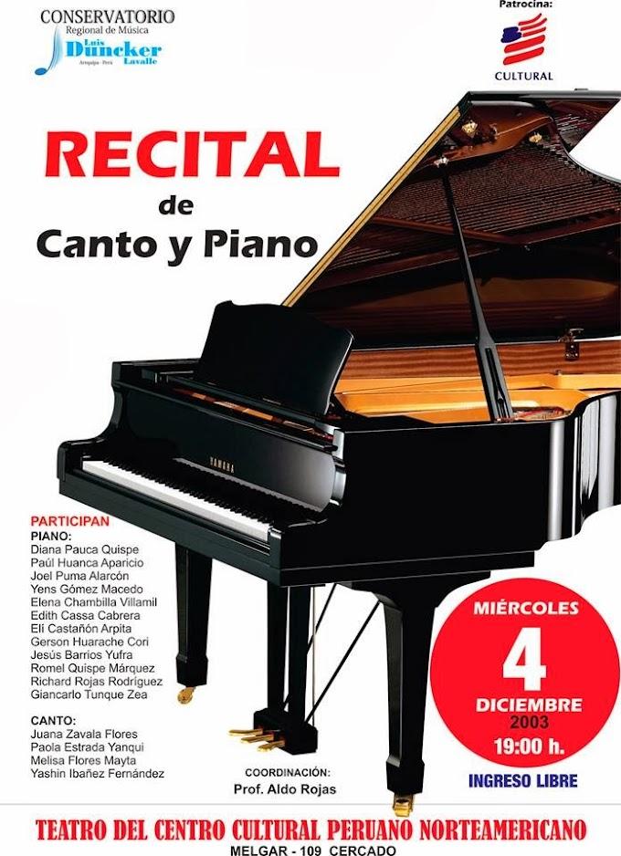 Recital de Canto y Piano - 04 diciembre