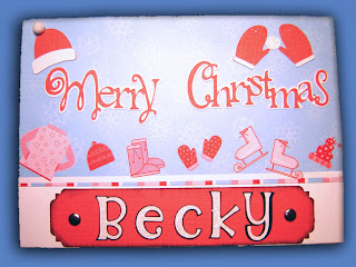 Merry Christmas, Becky, card front