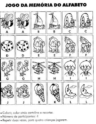 Jogos da Memória para Imprimir e Recortar